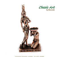 Статуэтка подсвечник фигурка Клеопатра египетская из полистоуна z464