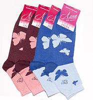 Носки женские Лана хлопковые, стрейчевые, демисезонные, летние