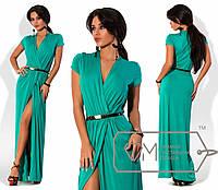 Вечернее платье с коротким рукавом