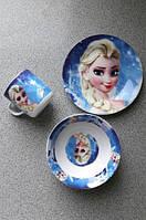 """Набор детской посуды керамика """" Холодное сердце"""" 3 предм."""