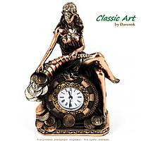 Оригинальные настольные часы для камина статуэтка Фортуна TS1147