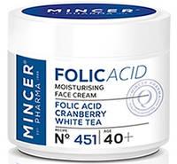 """Крем для лица увлажняющий """"Белый чай"""", Folic Acid Moisturising Face Cream, Mincer"""