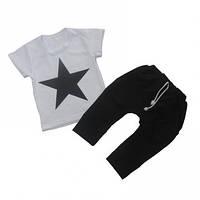 Комплект для мальчика - футболка и бриджи. Вискоза. р.р.52-64.