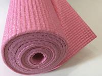 Йогамат 3 мм розовый (коврик для йоги и фитнеса)