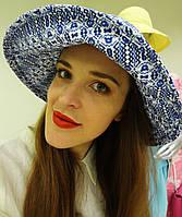 Льняная шляпа с орнаментом