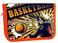 """Пенал школьный без наполнения """"Basketball"""" 2 отворота + расписание JO-16023"""