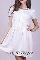 Платье белое гобелен