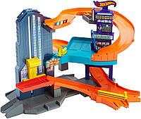 Трек хот вилс город скорости Hot Wheels Workshop Track Builder Speedtropolis Track Set