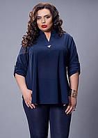 Однотонная женская блуза из креп-шифона
