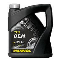 Моторное масло MANNOL 7711 O.E.M. 5W-40 for Daewoo GM 20л