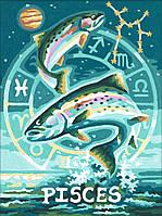 """Картины по номерам «Schipper» (9390671) художественный творческий набор """"Знак зодиака - Рыбы"""", 18х24 см"""