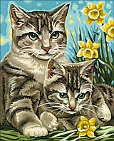 """Картины по номерам «Schipper» (9240437) художественный творческий набор """"Кошка с котёнком"""", 24х30 см"""