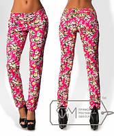"""Стильные женские брюки """"Цветы"""""""