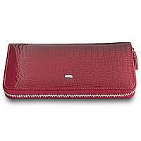 Красный кошелек лаковый из кожи EТ38 red