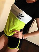 """Женский спортивный костюм """" Adidas футболка и шорты """" SK House"""