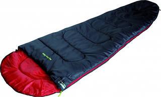 Удобный спальный мешок High Peak Action 250 / +4°C (Left) Black/red 922671 черный