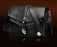 Женская кожаная сумка высокого качества на длинном ремне. Стильная сумка. Интернет магазин. Код: КД123