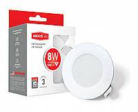 Светодиодные светильники потолочные LED точечные Maxus SDL mini, 8W теплый свет