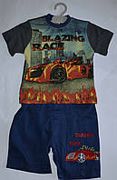 Костюм летний футболка и бриджи на мальчика 1, 2, 3, 4 лет, Турция