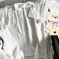 Детский вязаный набор на выписку (плед, кофточка,шапка)