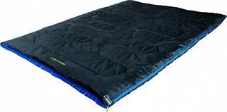 Вместительный спальный мешок High Peak Ceduna Duo /+3°C (Right) Black/blue 922678 черный