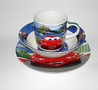 """Набор детской посуды керамика """"Тачки"""""""