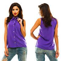 Рубашка женская однотонная