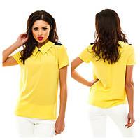 Блуза женская с имитацией погон