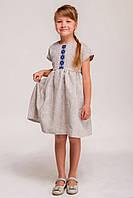Детское вышитое платье - лен