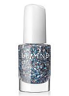 LU Gel Effect - Лак для ногтей гелевый с минералами (17-серебристо-голубые блестки), 5 мл