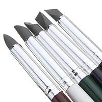 Стеки инструменты для лепки силиконовые кисти-для работы с глиной,воском,мастикой (5 шт.)