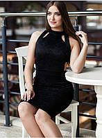 Платье Черное Эффектное из Гипюра р. S-M