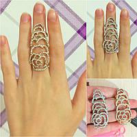 """Кольцо """"Анастасия""""  на весь палец, 15-16 размер."""