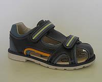 Детские ортопедические босоножки для мальчиков закрытые внутри кожаные р.36,37, удобная профилактическая обувь