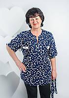Женская блузка на лето батал. Размеры 58 - 64