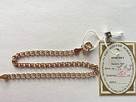 Золотой браслет  585 пробы, плетение Лав