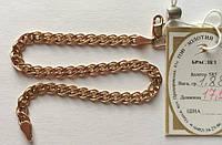 Золотой браслет  585 пробы, плетение Нона