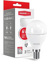 Светодиодная лампа MAXUS G45 F 6W E14 3000К