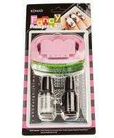Набор для дизайна ногтей Fancy Stamping Kit II Konad (2лака, 1штамп, 1скрапер)