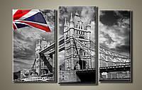 """Модульная картина на холсте из 3-х частей """"Тауэрский мост в Лондоне"""""""