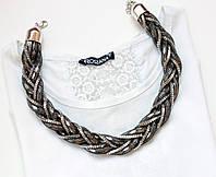 Колье женское Электра серебро, магазин бижутерии