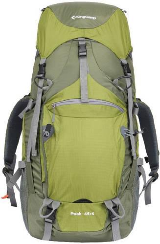 Треккинговый практичный рюкзак 45+5 л. KingCamp Peak (KB3250) Green зеленый