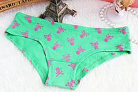 Трусики/Слипы Love Pink Victoria's Secret, зеленые