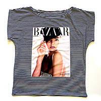 Летняя футболка женская с принтом Обложка журнала
