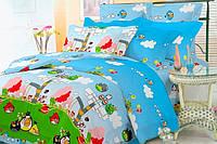 Детский полуторный постельный комплект белья Энгри Бердс