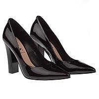 Туфли женские Sala (стильные, элегантные, черные, лаковые)