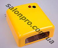 УФ лампа для сушки геля, гель-лака на 36 Вт W-818, желтая глянец
