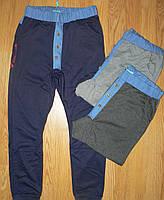 """Спортивные трикотажные брюки для подростков """"бойфренды"""" с декоративными пуговицами Grace 134-164р."""