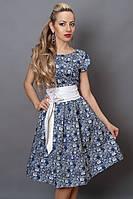 Модное летнее платье с пышной юбочкой в цветы от производителя