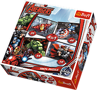 """Пазлы """"Avengers. Мстители"""" 34245 Trefl, 4 в 1"""